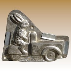 Heris Rabbit Driving Cargo Hauler Chocolate Mold
