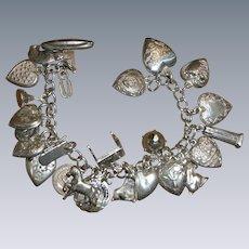 Puffy Heart Charm Bracelet