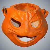 Paper Mache Halloween Cat Lantern