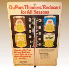 Dupont Automotive Refinish Products Advertising Thermometer