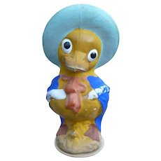 Composition Duck Easter Figure Made In Japan