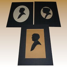 Hand Cut Silhouettes Signed And Dated