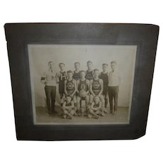 Early Original Basketball Photograph Olivet City Champs 1921-1922