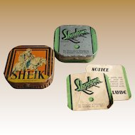 Vintage Condom Tin With Original Paper Advertising