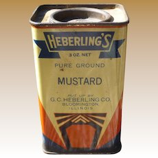 Great Deco Graphics Heberling's Ground Mustard Spice Tin