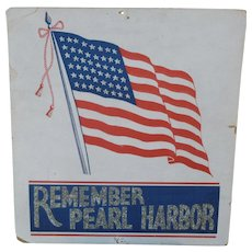Remember Pearl Harbor Window Card