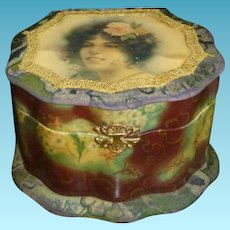 Beautiful Large Celluloid Collar Box