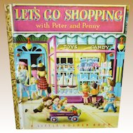 Let's Go Shopping With Peter And Penny A 1948 Little Golden Book