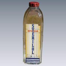 30's Embalming Fluid Bottle With Original Label