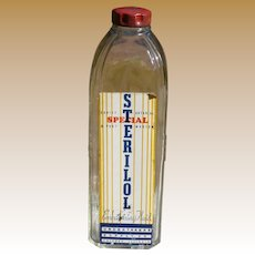 30's Embalming Fluid Bottle With Original Label