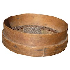 Large Primitive Bentwood Grain Sifter