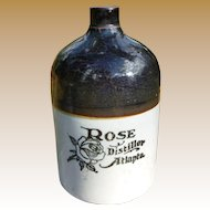 Rose Distillery Atlanta Georgia Stoneware Jug