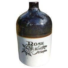 Rose Distillery Atlanta Georgia Stoneware Jug