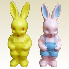 Easter Rabbit Rattles Pink And Yellow Bunny Rattle And Candy Container