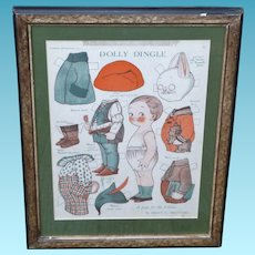 Grace Drayton Dolly Dingle Easter Bunny Paper Dolls Framed