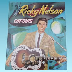 Rare Uncut Ricky Nelson Paper Dolls
