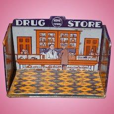 Marx Home Town Tin Drug Store