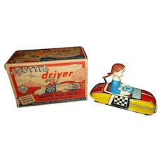 Marx Vintage Wind Up Toy Dottie The Driver W/Original Box