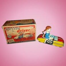 Marx Vintage Wind Up Toy Dottie The Driver W/Original Box