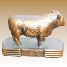Vintage Pfaelzer Brothers Advertising Steer Paperweight