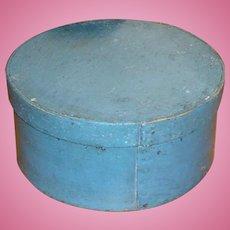 Antique Pantry Box In Original Blue Paint