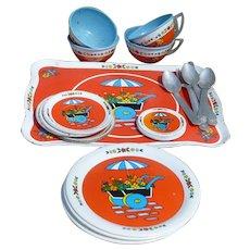 Ohio Art Tin Lithographed Dish Set