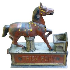Shepard Hardware Trick Pony Cast Iron Mechanical Bank