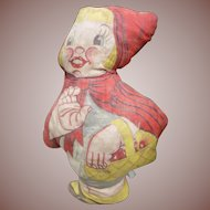 Printed Fabric Little Red Riding Hood Doll
