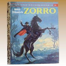 1958 Zorro Little Golden Book