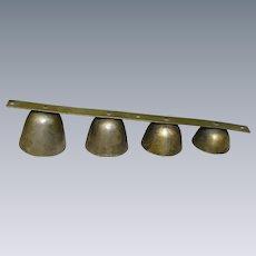 Carriage Horse Graduated Brass Sleigh Bells