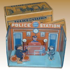 Marx Home Town Tin Litho Police Station