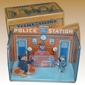 Marx Home Town Tin Litho Police Station