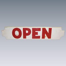 Hand Painted OPEN Trade Sign