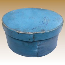 19th Century Pantry Box In Blue Paint