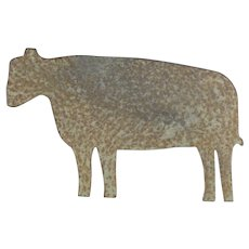 Primitive Sheet Iron Cow