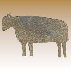 Primitive Sheet Iron Cow
