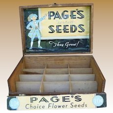 Page's Seeds Advertising Store Display Box