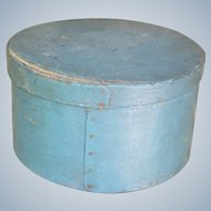 Antique Pantry Box In Blue Paint