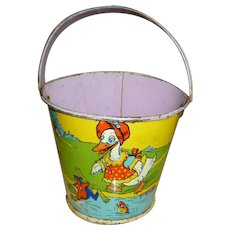 Tin Sand Pail Candy Container