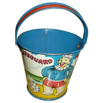 E. Rosen Sand Pail Candy Container