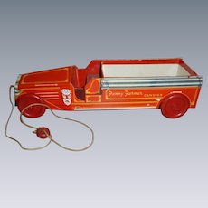 Fanny Farmer Fire Engine Candy Container Pull Toy