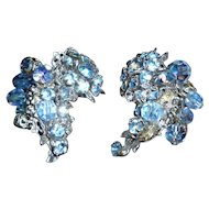 Signed De Mario Earrings Beautiful Blue!