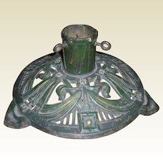 Cast Iron Christmas Tree Stand In Original Paint