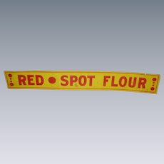 Red Spot Flour Tin Advertising Sign