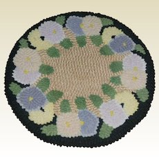 Hooked Candle Mat Or Sweet Dollhouse Rug