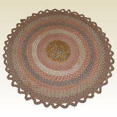 Vintage Braided Table or Candle Mat