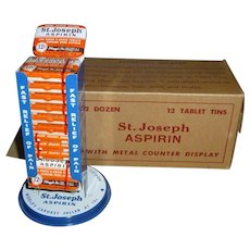 NOS St. Joseph Aspirin Advertising Counter Display