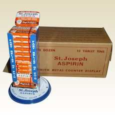 NOS St. Joseph Aspirin Advertising Counter Display