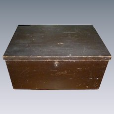 Primitive Document Box In Original Paint