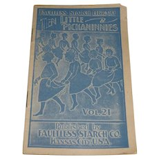 Faultless Starch Ten Little Pickaninnies Premium Booklet